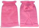 Plain Knit Pet Sweater XXS Pink